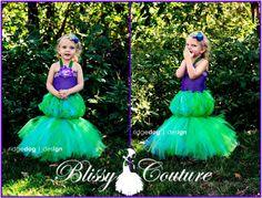 Little Mermaid Ariel Tutu Dress Costume by www.BlissyCouture.net