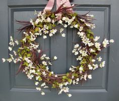 Apple Blossom Wreath  I'm not a big wreath person but this is so simple and elegant!