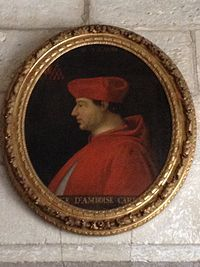 Cardinal Georges d'Amboise (1460-1510)  On 9 February 1499, he signed a treaty with Venice to which Pope Alexander VI adhered. He accompanied Louis and entered with him into Milan 6 October 1499; he was charged with organizing that province under French control, then returned to France in November. After the revolt of March 1500 in favor of Ludovico Sforza, the cardinal was appointed lieutenant general; he retook the duchy of Milan and sent Sforza to France as a prisoner.