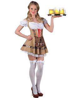 Tyrolerkjole Alpine girl - Kostyme til oktoberfest