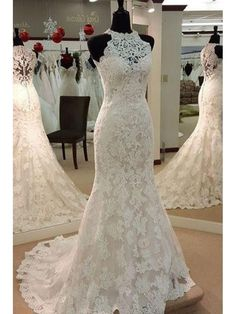 Mermaid Sleeveless Lace Wedding Dresses Bridal Gowns 99603002
