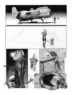 El traje de la tercera viñeta es muy parecido a los trajes de Prometheus, esta página tiene varios años, creo