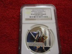 2010 Tuvalu S$1 Roman Legionary Colorized NGC PF69 UC Great Warriors Silver Coin