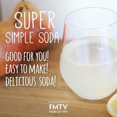 Stimulate your digestive system and support your intestinal flora with this super simple soda! (healthy of course!) ✌️ Head to the link in the bio and search 'soda' to find out more.  #FMTV #foodmatters #health #wellness #recipe  www.fmtv.com