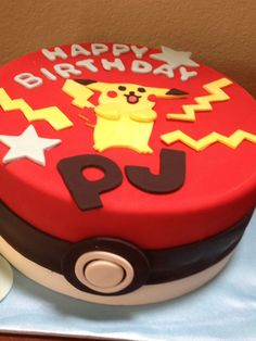 Pokemon (picachu) birthday cake.