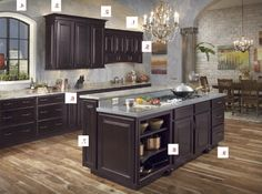 Interesting Things About This Maple Espresso Kitchen From Waypoint