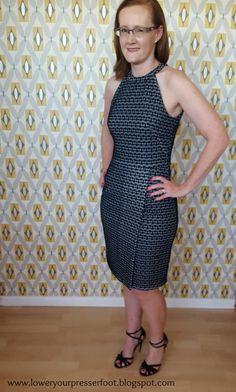 Burda Style 8/2016 #113 couture dress www.loweryourpresserfoot.blogspot.com