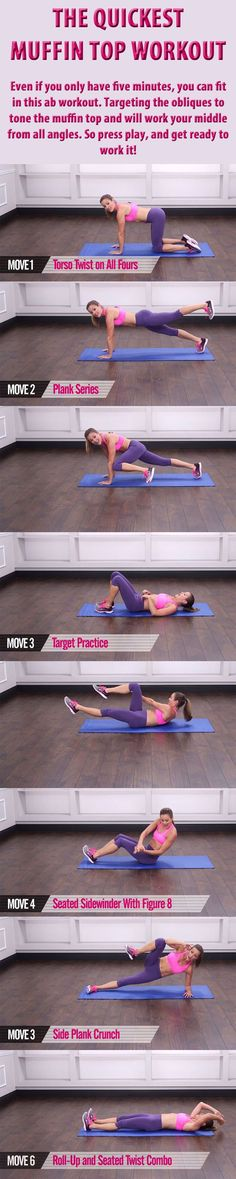 THE QUICKEST MUFFIN TOP WORKOUT. #fitness #workout #muffintop #exercise