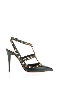 Are you looking for Valentino Rockstud Rolling Ankle Strap? Find out all the details at Valentino Online Boutique and shop designer icons to wear.