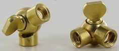1/8F X 1/8F ips. UNFINISHED BRASS ADJUSTABLE FRICTION SWIVEL WITH KEY.