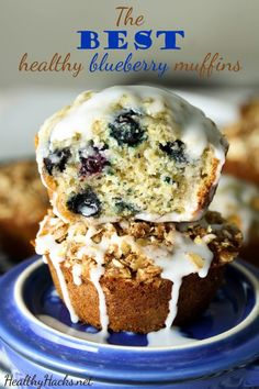 The BEST healthy blueberry muffins - gluten free; low fodmap; vegan and high protein options