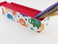 Circus Animals Back to School Pencil Box by Walter Silva, $15.00