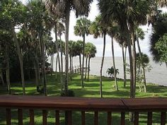 Key West style home on half an acre of riverfront property. Dock with seating area. Large deck with summer kitchen. Views of the Port and Merrit Island. Huge yard with many palm trees. Main living area on the 2nd floor ...