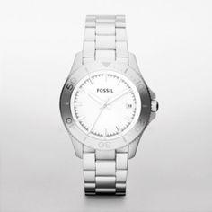 FOSSIL® Watch Styles Steel Watch #retro #traveler #watch #bejeweled