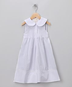 Rosalina White Pin Tuck Dress. Classic.