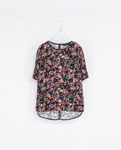 PRINTED TOP - Shirts - Woman | ZARA Singapore