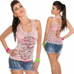 #Top #espalda #efecto #corsé #diseño #sinmangas con #detalles de #encaje, #tejido #elastico de #excelente #calidad para brillar con efecto sexy y #joven #complementandolo con todo tu #armario. #Colores #vivos y #desenfadados que #destacan la #figura. Encuentralo en:   http://www.agiltienda.com/es/tops-y-camisetas/2212-top-corse-con-encaje-y-estampado-8400221274785.html? #Online #shop #sexy #fashion @agiltienda.es