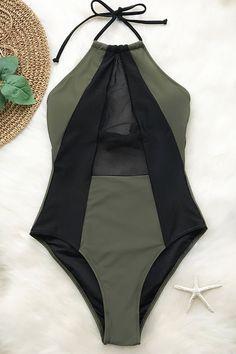 78b8acb8578a8 Take My Heart Mesh One-piece Swimsuit Swimsuits, Bikinis, Swimwear, Spring  Break