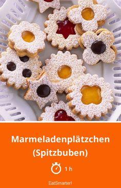 Marmeladenplätzchen (Spitzbuben) - smarter - Zeit: 1 Std. | eatsmarter.de Doughnut, Cereal, Eat Smarter, Breakfast, Desserts, Noel, Christmas, Morning Coffee, Tailgate Desserts
