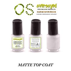 Matte Top Coat Fabulously Ferocious™ Nail Lacquer – OverSoyed Fine Organic Products