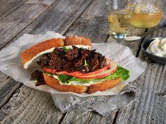 Sandwich med glasert reinsdyrskav