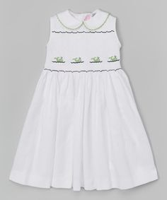 Look what I found on #zulily! White Smocked Whale Dress - Infant, Toddler & Girls #zulilyfinds