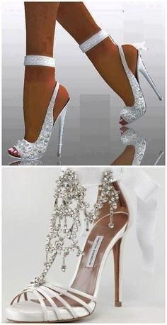 88ddf59272 20 white brides shoes Brides wishes their weddings · Sapatos ChiquesSapatos  De FestaSapatos ...