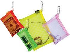Walker color mesh zip cases