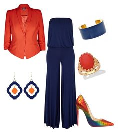 Designer Clothes, Shoes & Bags for Women Orange You Glad, Palm Beach Jewelry, City Chic, Imagination, Christian Louboutin, Navy, Polyvore, Stuff To Buy, Outfits