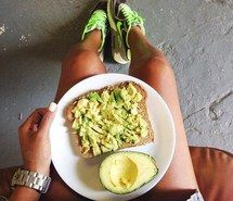 Inspiring image avocado, clean eating, delicious, fitness, food, food porn, healthy, healthy food, nike, running shoes, toast, watch, workout #1841084 by patrisha - Resolution 400x400px - Find the image to your taste