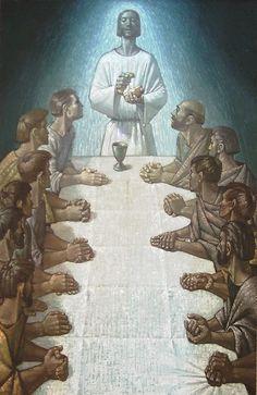 Eucaristia, antídoto para a vida eterna - Desejo Santo Spiritual Images, The Lord Is Good, Last Supper, Jesus Christ, Spirituality, Bible, Statue, Painting, Contemporary