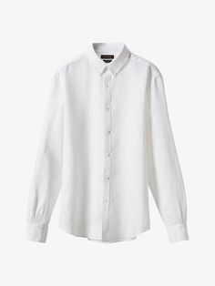 Autumn Spring summer 2017 Men´s SLIM FIT WHITE SHIRT WITH ELBOW PATCHES at Massimo Dutti for 89.5. Effortless elegance!