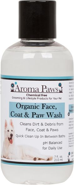 A must have in the wet, winter months to clean up your super stinky dog: Organic Dog Face, Coat, and Paw Wash. All natural! Use combined with some odor removing sprays for a quick, no bath clean up!!