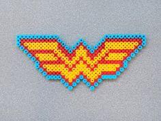 Wonder Woman Symbol Perler Bead Sprite by SquareMart on Etsy