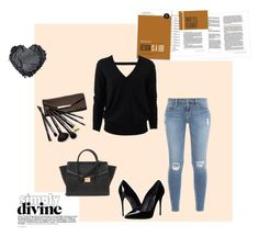 """""""I love black⚫️"""" by dasiaxo on Polyvore featuring Michael Kors, Frame Denim, Borghese, Forever 21 and Dolce&Gabbana"""