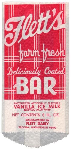 Letterology rummages through mistercola's eBay listings to find a trove of vintage ice cream bar wrappers.