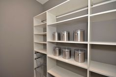 Custom Pantry Shelving Pantry Shelving, Closet Shelves, Closet Storage, Closet Organization, Custom Closet Design, Custom Closets, Closet Designs, Shelving Solutions, No Closet Solutions