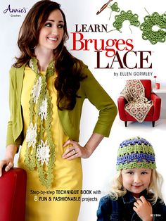 Crochet - Accessory Patterns - Ponchos, Shrugs, Shawls & Wraps - Learn Bruges Lace