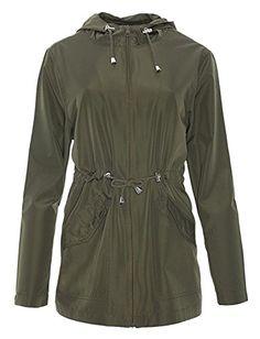 FSSE Women Zip Front Stripe Print Hooded Slim Fit Warm Hoodies Sweatshirt Jacket Coat