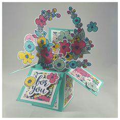 3/25/17 - For You... #cards #handmade #stamps #stamping #paper #papercrafting #cardstock #cardinabox #flowers #bunches