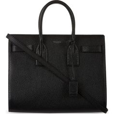Small Sac de Jour small grained leather tote (57 920 UAH) ❤ liked on Polyvore featuring bags, handbags, tote bags, black, purses, yves saint laurent purses, full grain leather handbag, black tote, yves saint-laurent tote and black handbags