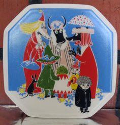 Arabia Finnland, Moomin-Wandplatte, die Toffle Komfort wird?(1/6)