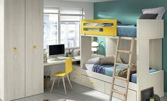 Kazzano nos presenta ideas para las habitaciones de tus hijos. Las litera siempre son una buena opción. Descubre más en nuestra web. #literas