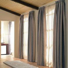 cortinas para salon rustico - Buscar con Google