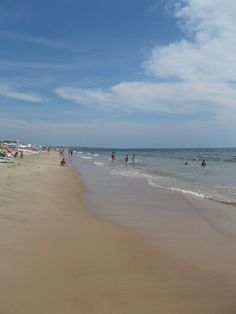 Misquamicut Beach on a sunny, late August day. South County beaches: Beautiful!