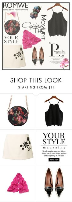 """Untitled #6864"" by ana-angela ❤ liked on Polyvore featuring Marc Jacobs, Pussycat and RED Valentino"
