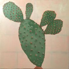 A Mexican cactus in oil on linen 70 cm x 70cm