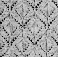 Gorgeous diamond lace knitting stitch pattern. More Great Patterns Like This