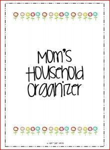 Household Binder Set (50 pages) FREE download I especially like the large meal planning section.
