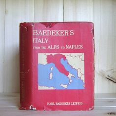 Baedeker's Italy Alps to Naples 1928 Antique by CrookedHouseBooks